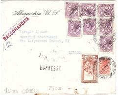 RACCOMANDATA ESPRESSO £25 VALORI GEMELLI - 6. 1946-.. Repubblica