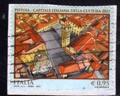 ITALIA REPUBBLICA ITALY REPUBLIC 2017 PISTOIA CAPITALE DELLA CULTURA USATO USED OBLITERE' - 6. 1946-.. Repubblica