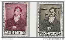Ireland - 1952 Thomas Moore Centenary Used SG 152-3  Sc 145-6 - 1949-... Republic Of Ireland