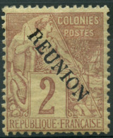 Réunion (1891) N 18 * (charniere) - Reunion Island (1852-1975)