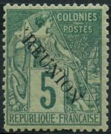 Reunion (1891) N 20 * (charniere) - Reunion Island (1852-1975)