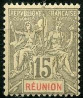 Reunion (1900) N 48 * (charniere) - Ongebruikt