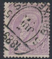 """émission 1884 - N°52 Cachet Imprimé """"Bruxelles 5"""" (1889) - 1884-1891 Léopold II"""