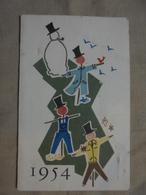 Ancien Petit Calendrier Publicitaire Elle & Lui Cochonneaud & Cie Pontorson 1954 - Calendriers