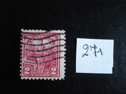 U.S.A. 1927 - 150° Anniv. Indépendance Du  Vermont 2c Rose - Y.T. 271 - Oblitéré - Used - Etats-Unis