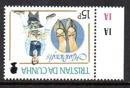 Tristan Da Cunha 1988 Handicrafts 15p Value, Watermark Inverted, MNH, SG 449w - Tristan Da Cunha