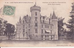 CPA - LES TROIS MOUTIERS (Vienne) - Château De La Motte Chandenier  Côté Sud Ouest - Les Trois Moutiers