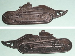 Rare Plaque/plaquette En Métal, Représentant Un Char Renault FT17 Ft 17, Tank Militaria, WW1 - Other