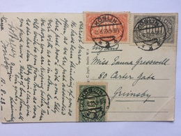 GERMANY 1923 Inflation Postcard Koslin To Grimsby England - Germany