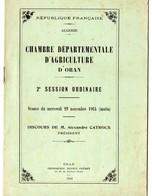 Oran (Algérie)  Plaquette CHAMBRE D'AGRICULTURE D'ORAN 1944  (PPP11228) - Boeken, Tijdschriften, Stripverhalen