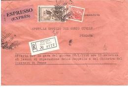 RACCOMANDATA ESPRESSO CON £200 ITALIA LAVORO - 6. 1946-.. Repubblica