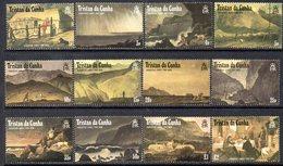 Tristan Da Cunha 1988 Augustus Earle Paintings Definitive Set Of 12, MNH, SG 461/72 - Tristan Da Cunha