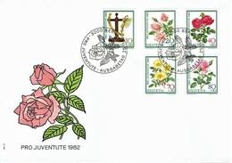 Schweiz / Switzerland - Mi-Nr 1236/1240 FDC (c511) - Rosen