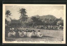 AK Vanua-Lavu / Fiji, Fijan War Dance - Ansichtskarten