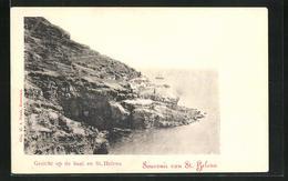 CPA St. Helena, Gebäude An Der Felsküste - Sainte-Hélène
