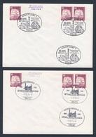 Deutschland Germany 1975 - 2x Brief Cover - 140 Jahre Deutsche Eisenbahnen - 7.12.1835 Stuttgart + Nürnberg / Railway - Treinen