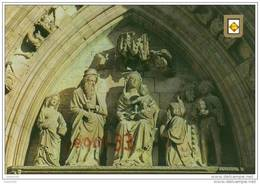 CPM.Castello D'empuries.timpan De La Façade.ed:escudo De Oro Num 17 - Gerona