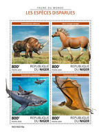 NIGER 2019 - Extinct Species. Official Issue - Préhistoriques