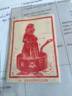 1 Vignette C1905 ART Vrijmetselaars LA CASSEROLEUSE  5,5 Cm X 7,8 Cm Maçonnerie Cinderella Posterstamp, Free Mansonry - Erinnophilie