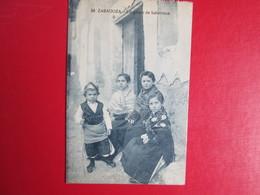 Zaragoza  . Un Grupo De Baturricos . Carte Ecrite Et Timbree - Zaragoza