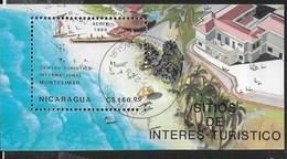 NICARAGUA - 1990 CENTRO TURISTICO MONTELIMAR - FOGLIETTO USATO (YVERT BF 188 - MICHEL BL 182) - Vacanze & Turismo