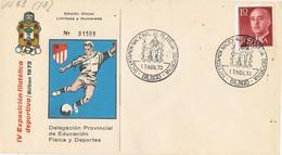 33657. Carta BILBAO 1973. Exposicion Filatelia Deportiva. FUTBOL Atletic - 1971-80 Storia Postale
