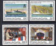 Tristan Da Cunha 1990 Maiden Voyage Of St. Helena II Set Of 4, MNH, SG 500/3 - Tristan Da Cunha