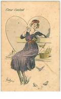 ILLUSTRATEURS.N°947.COEUR CONTENT.FEMME JOYEUSE - Illustrators & Photographers