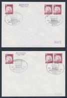 Deutschland Germany 1975 - 2x Brief Cover - 100 Jahre Eisenbahn Annweiler - Pirmasens - Zweibrücken 1875 -1975 / Railway - Treinen