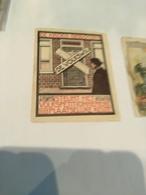 2 Vignettes Rond 1920 VOLKSBOND En Petiitie DE KROEG Gesloten ART  5,2X 6,7cm  En 6,1X3,5 Cinderella Posterstamp LITHOS - Vignetten (Erinnophilie)