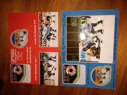 2 Cartoline CAMPIONATO DEL MONDO HOCKEY GHIACCIO 1987 - Italie