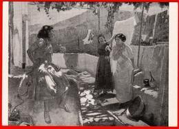 Cheptsov Capri Fille Linge Linge Linge Sourire Scène De Maison Grèce Hechanka 1963 Peinture - Grecia