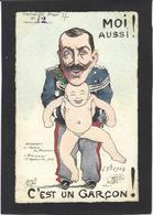 CPA ORENS Satirique Caricature Italie Italian Roi Royalty Circulé Tirage Limité Estampe - Orens