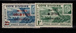 Cote D'Ivoire - YV 175 & 176 N** Oeuvres Coloniales Cote 1,60 Euros - Côte-d'Ivoire (1892-1944)