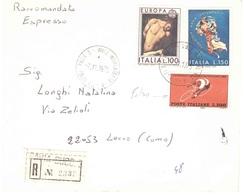 RACCOMANDATA ESPRESSO ANNULLO PAVIA 3 CON £300 CAMPIONATO MONDIALE CICLISMO 1962 FALSO - 1946-.. République