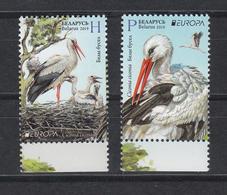 Belarus Weissrussland MNH** 2019 Europe Stamps Birds   Mi 1300-01 - Belarus
