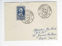 FDC Carte 1er Jour Le Comte D'Argenson Nice Timbre N° 940 Oblitération Du 14 Mars 1953 - FDC