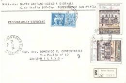 RACCOMANDATA ESPRESSO RONCO SCRIVIA GE - 1946-.. République