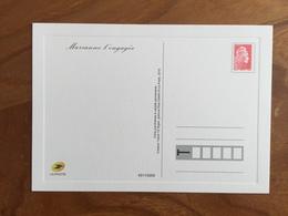 CARTE POSTALE PRE TIMBREE MARIANNE L'ENGAGEE - 2018 - Neuf - Postwaardestukken