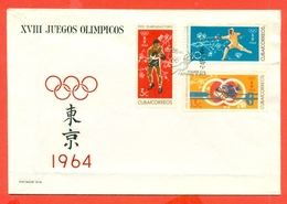 SPORT- CUBA - OLIMPIADI DI TOKYO- 1964 - FDC
