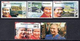 Tristan Da Cunha 1992 40th Anniversary Of Queen's Accession Set Of 5, MNH, SG 526/30 - Tristan Da Cunha
