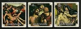 COOK ISLANDS 1976 EASTER ART PAINTINGS SET MNH - Cook Islands