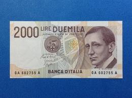 1990 ITALIA BANCONOTA FDS UNC 2000 LIRE GUGLIELMO MARCONI - [ 2] 1946-… : Républic