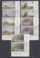 Jersey 1987 Christmas 5v (pair, Corners) ** Mnh (43963B) - Jersey