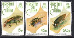 Tristan Da Cunha 1993 Insects Set Of 3, MNH, SG 539/41 - Tristan Da Cunha