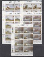 Jersey 1987 Christmas 5v 8x ** Mnh (43963C) - Jersey