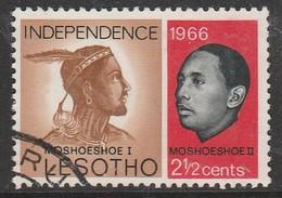 Lesotho 1966 Independence 2½ C Multicoloured SW 1 O Used - Lesotho (1966-...)