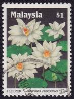 MALAYSIA 1990 Wildflowers $1 Sc#419 - USED @PM102 - Malaysia (1964-...)