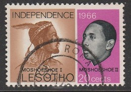 Lesotho 1966 Independence 20 C Multicoloured SW 4 O Used - Lesotho (1966-...)
