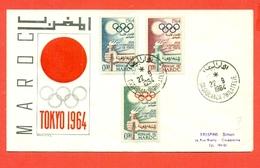 SPORT- OLIMPIADI-   MAROCCO - OLIMPIADI TOKYO 1964- - Marocco (1956-...)